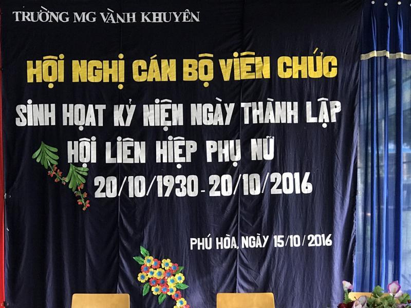 Sinh hoạt kỷ niệm ngày thành lập hội liên hiệp phụ nữ Việt Nam  Ngày 20/10/2036 - 20/10/2016